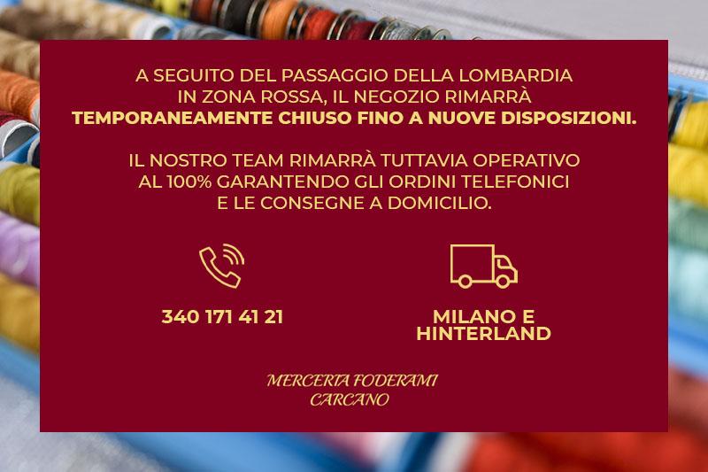 Merceria Carcano - Ordini telefonici e Consegna a domicilio